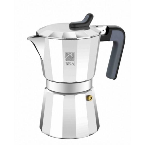 Кофеварка гейзерная на 3 чашки DE LUXEPintinox производит качественные и стильные столовые приборы и посуду. Все предметы созданы с любовью, поэтому пользоваться ими и приятно, и удобно. Гейзерная кофеварка откроет для вас настоящий вкус кофе.<br>