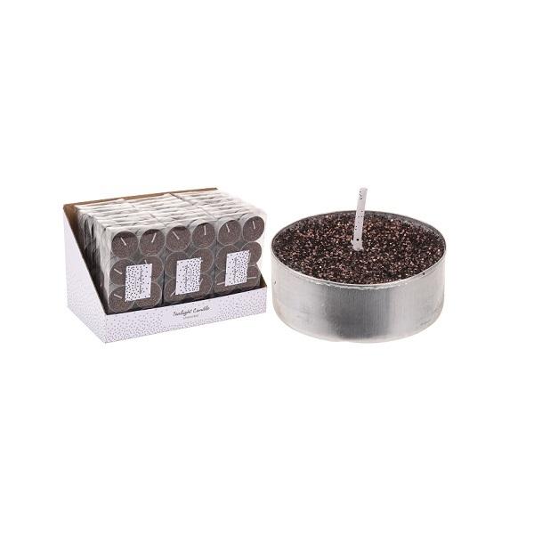 Набор чайных свечей 8 шт 3,7x3,7x1 см терракот