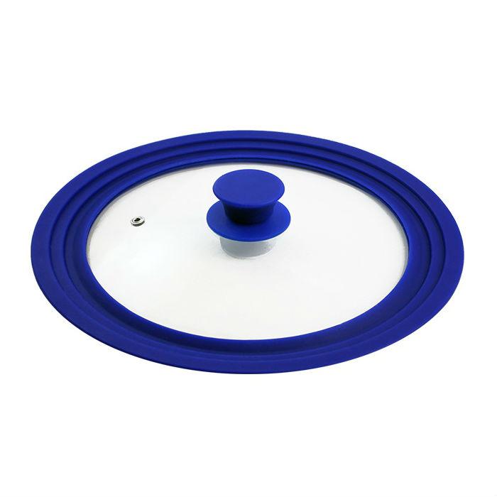 Крышка универсальная стекло/силикон синяя ?24-26-28 см. синийНемецкая компания Borner предлагает продукцию очень высокого качества. Универсальная крышка с силиконовым кольцом. Изготовлена из прочного стекла и силикона. Крышка имеет отверстие для выпуска пара.<br>