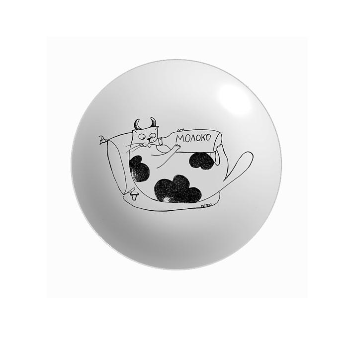 Тарелка Знак зодиака Телец 250 ммТарелка Телец от МАТЕО - это посуда с авторским декором. Такая необычная посуда может быть оригинальным украшением стола, отличным вариантом для сервировки и просто потрясающим подарком.<br>