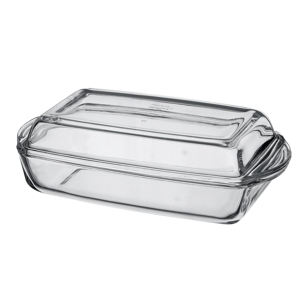 Форма для запекания с крышкой 1,5 л.Посуда для СВЧ лоток прямоуг с крышкой 1,5 л 29*16*10 см<br>
