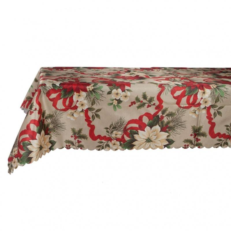 Скатерть Новогодняя на стол Хэппи 140 х 240 см Grand Textil