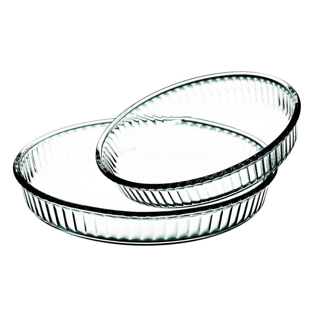 Набор форм д/запекания 2прНабор посуды для СВЧ 2 пр (круглые формы для запекания d 320 мм + d 260 мм) 2,6 л+1,6 л<br>