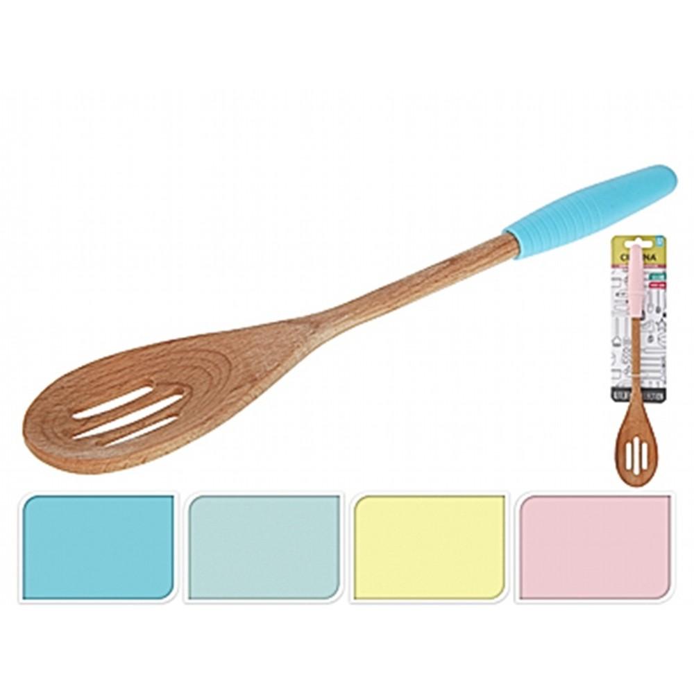 Ложка кухоннаяExcellent Houseware производит посуду и различные предметы для дома. Ложка кухонная - аксессуар повседневного использования. Ею можно переворачивать любые жарящиеся продукты. Внимание! Выбрать цвет заранее не представляется возможным.<br>