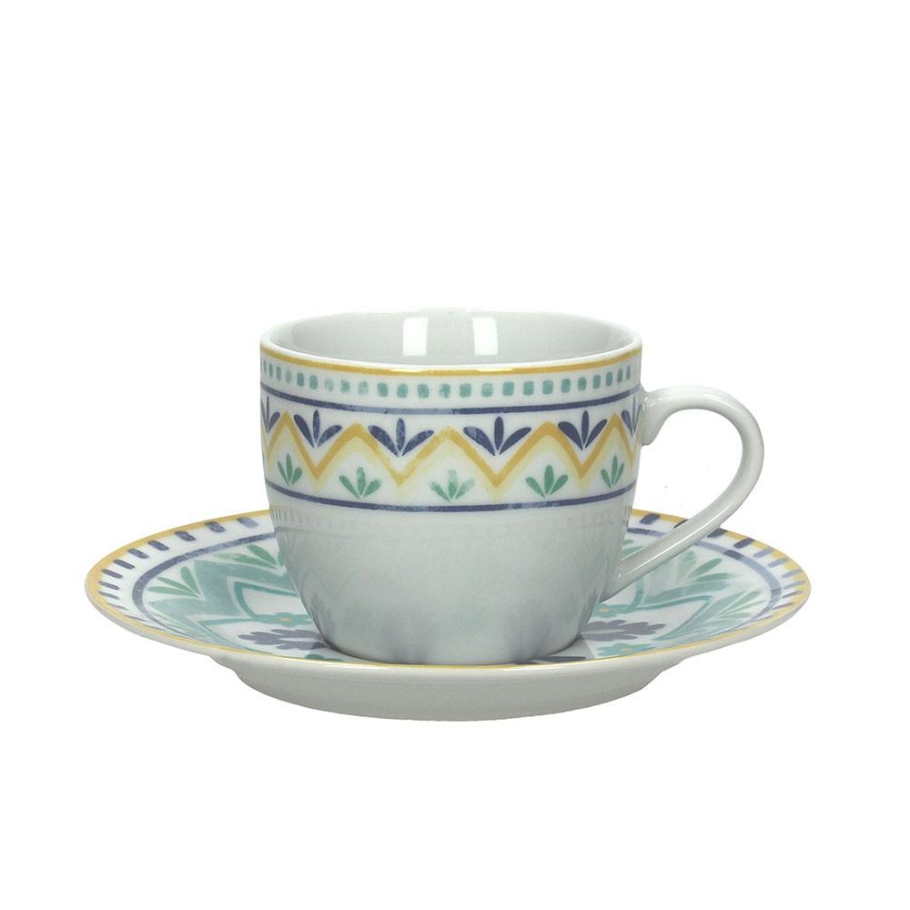 Набор чашек с блюдцами д/ завтрака 2 шт OLIMPIA ALHAMBRAКомплект из двух чашек чайных с блюдцами OLIMPIA ALHAMBRA - это образец изысканной формы и элегантного декора. Стиль и высокое качество качество - отличительные черты продукции Tognana.<br>