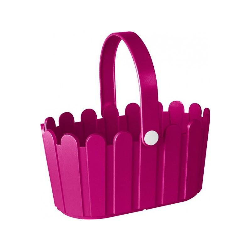 Корзинка LANDHAUS 28*18 см розоваяНемецкий бренд EMSA дарит жителям мегаполисов прекрасные аксессуары для дома и загородных домов, которые всегда радуют покупателей своим ярким и стильным дизайном и функциональностью. Кашпо в виде небольшой корзинки из высококачественного пластика розового цвета станет прекрасным украшением Вашего дома. Такой красивый аксессуар будет прекрасно смотреться на балконе. В нем можно легко высадить комнатные растения или рассаду для дачи.<br>