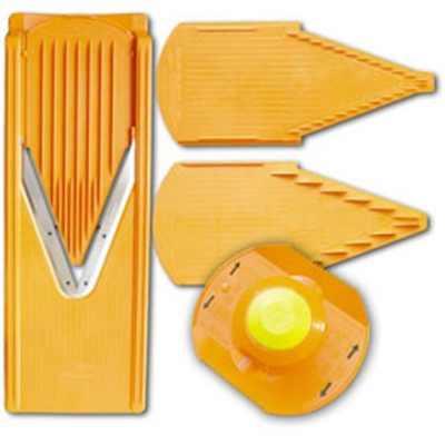 Овощерезка (комплект) с плододержателем TREND оранжеваяНемецкая компания Borner предлагает продукцию очень высокого качества. Лезвия овощерезки выполнены из нержавеющей стали, которые не нуждаются в заточке много лет. Корпус выполнен из пластика.<br>