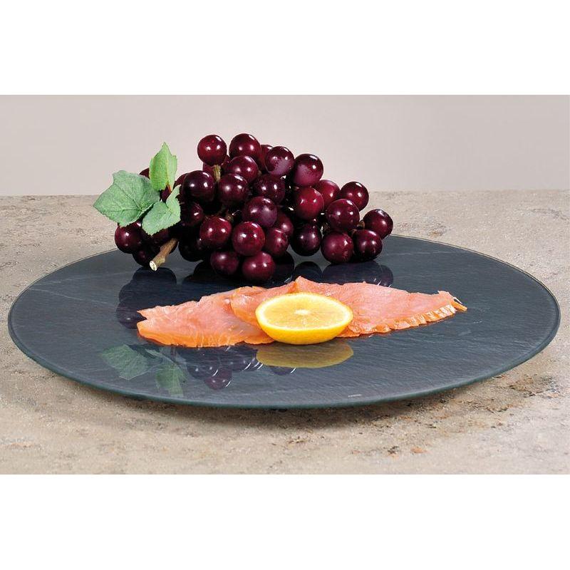 Доска вращающаяся, стекло, d 35,5см., h 3смДоска Kesper изготовлена из прочного высококачественного стекла. Основание снабжено противоскользящими ножками для устойчивости. Благодаря тому, что изделие вращается, любой продукт на нем становится максимально доступным.Удобная и функциональная доска станет отличным приобретением для вашей кухни.<br>