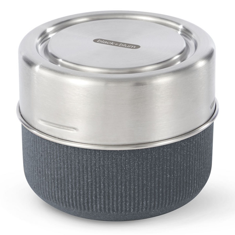 Ланч-бокс 600 мл Black+Blum Glass lunch pot серый.