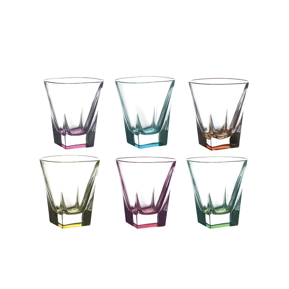 Набор стаканов д/виски 270 мл 6 шт FUSION COLOURS<br>