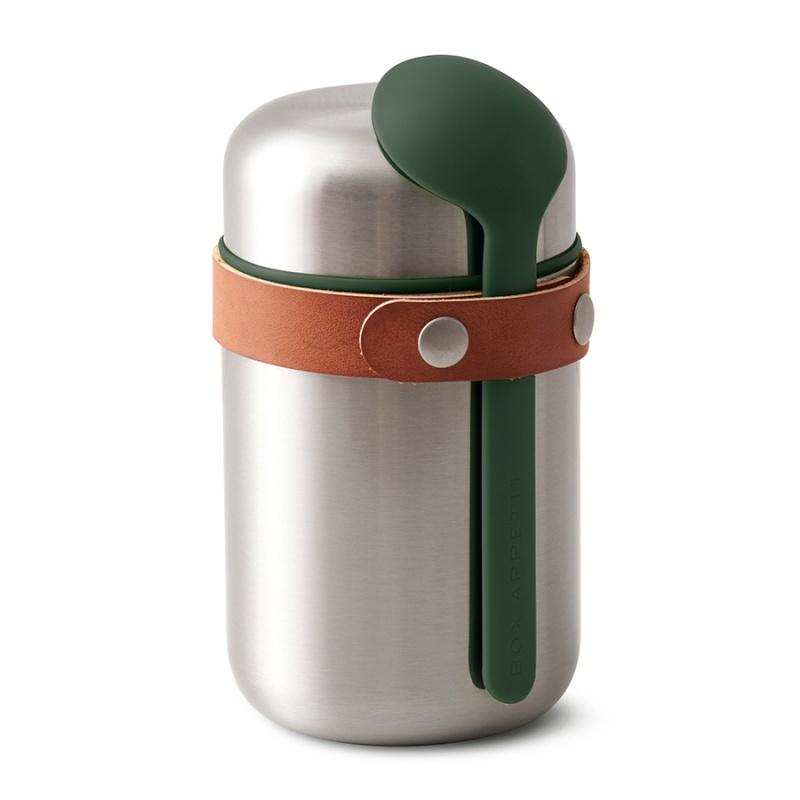 Термос для горячего 400 мл Food Flask оливковый.