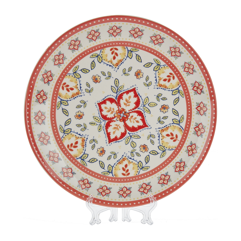 Набор обеденный Марокко 8 предмНабор обеденный Марокко Медиа Густо состоит из восьми предметов. В него входят две пары столовых приборов: каждый из них включает в себя большую и десертную тарелки, глубокое блюдце, которое удобно использовать во время чаепития для быстрого охлаждения чая, а также кружку с большой ручкой. Посуда изготовлена из высококачественного фаянса, устойчивого к появлению сколов и трещин. Она покрыта красивой цветной глазурью, изображающей этнический узор. Обеденный набор Марокко поможет сделать застолье более эстетичным и приятным.<br>
