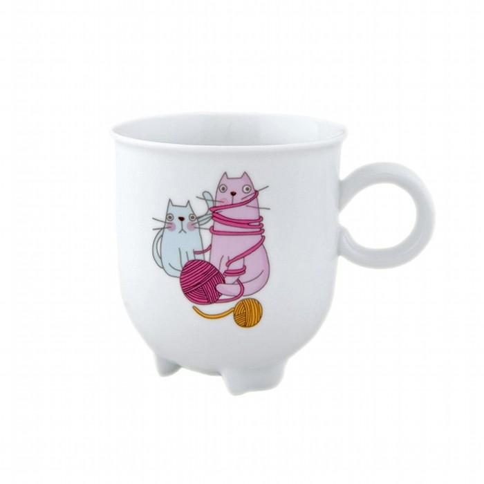 Кружка Крейзи КэтсКружка Крейзи Кэтс изготовлена из высококачественного фарфора, декорирована ярким рисунком. Такие кружки украсят Вашу кухню и сделают процедуру чаепития приятной и непринужденной.<br>