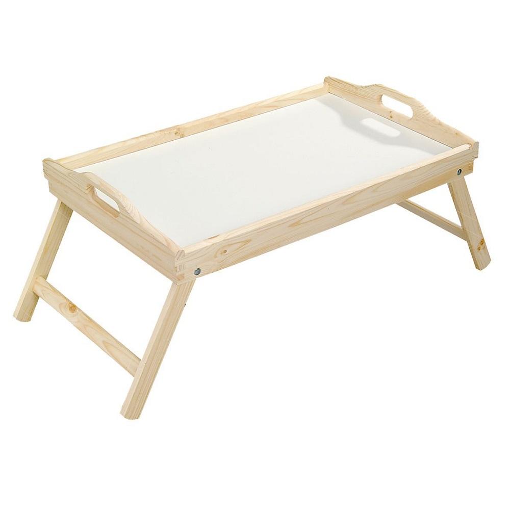 Сервировочный столик с ручками, 50х30,5см., дерево  6901-4 натуральное деревоСервировочный столик от Kesper изготовлен из качественной древесины бамбука. Изделие устойчиво к механическим повреждениям. У этого столика складные ножки, поэтому он может с легкостью выполнять две функции: быть подносом или маленьким столиком.<br>