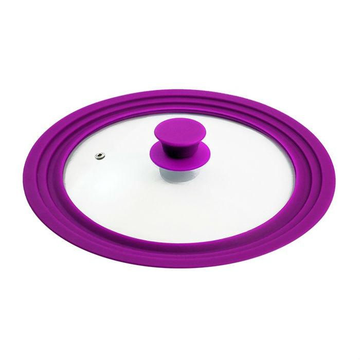 Крышка универсальная стекло/силиконНемецкая компания Borner предлагает продукцию очень высокого качества. Универсальная крышка с силиконовым кольцом. Изготовлена из прочного стекла и силикона. Крышка имеет отверстие для выпуска пара.<br>