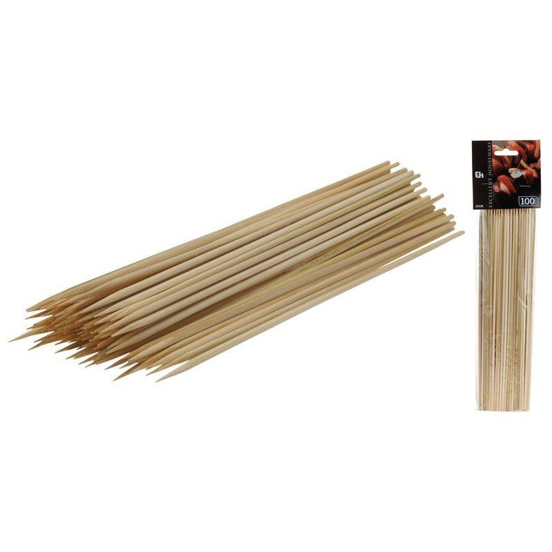 Набор шпжек д/шашлыков 100 шт 25 см<br>