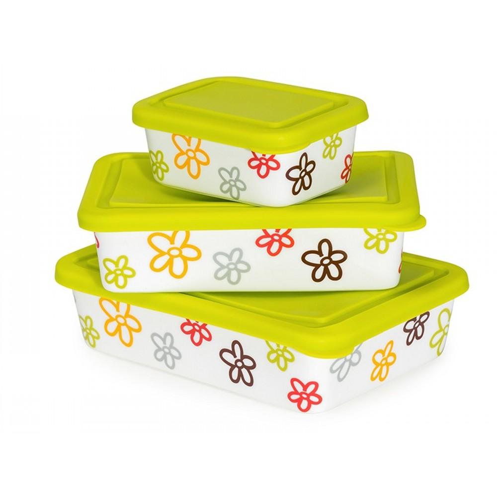 Набор керамических формФорма подходит как для разогрева блюд в микроволновой печи, для хранения в холодильнике, так и для заморозки. Благодаря силикиновой крышке ваши продукты сохранят свой прежний вкус и аромат.<br>