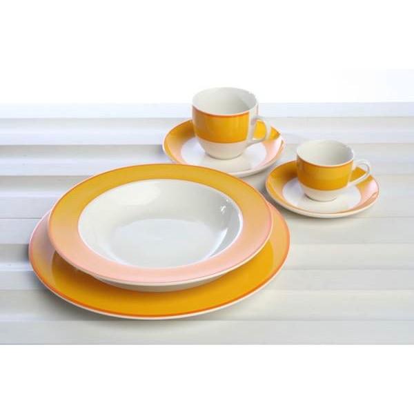 Тарелка обеденная AMBRA YELLOWTognana производит фарфоровую посуду. Главный девиз компании - качество и долговечность, соответственно, к производству каждого предмета компания подходит очень ответственно. Тарелка - один из самых полезных предметов на кухне.<br>