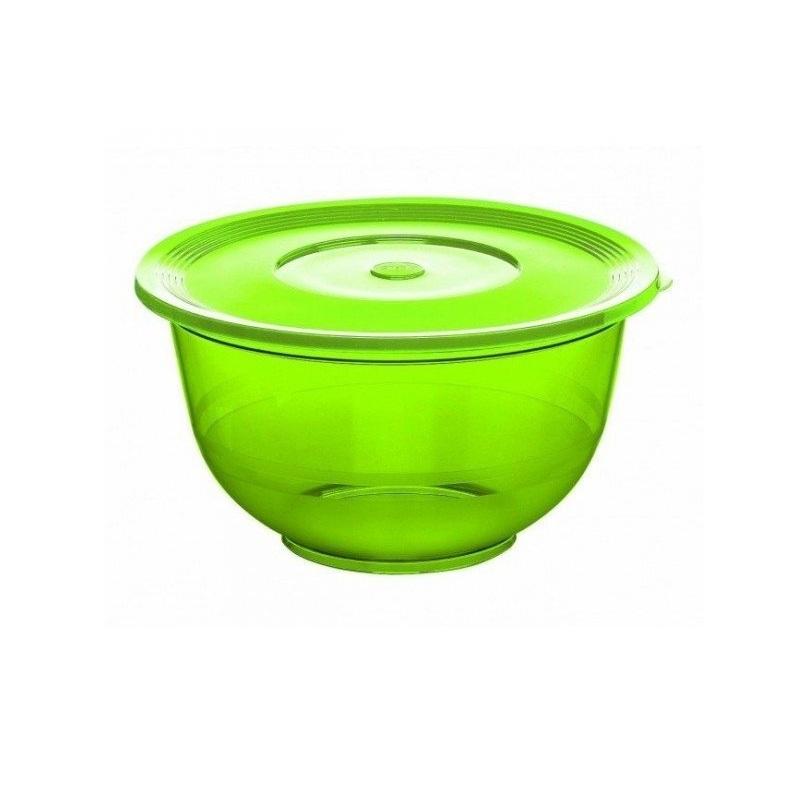 Миска для салата с крышкой 3,5 л, зеленая SUPERLINEМиска для салата SUPERLINE от EMSA пригодится на каждой кухне. Ее можно использовать как для хранения, так и, например, для замешивания теста или приготовления салатов. А наличие крышки дает возможность удобно хранить миску с продуктами в холодильнике и транспортировать.<br>