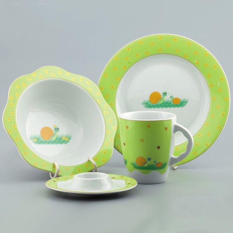 Набор детской фарфоровой посуды &quot,Улитка&quot, Cmielow