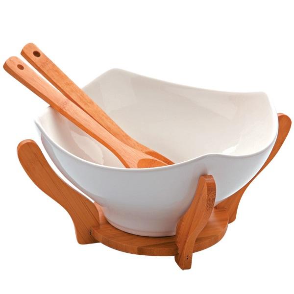 Набор для сервировки 4 предмета Dekok фарфор, бамбук