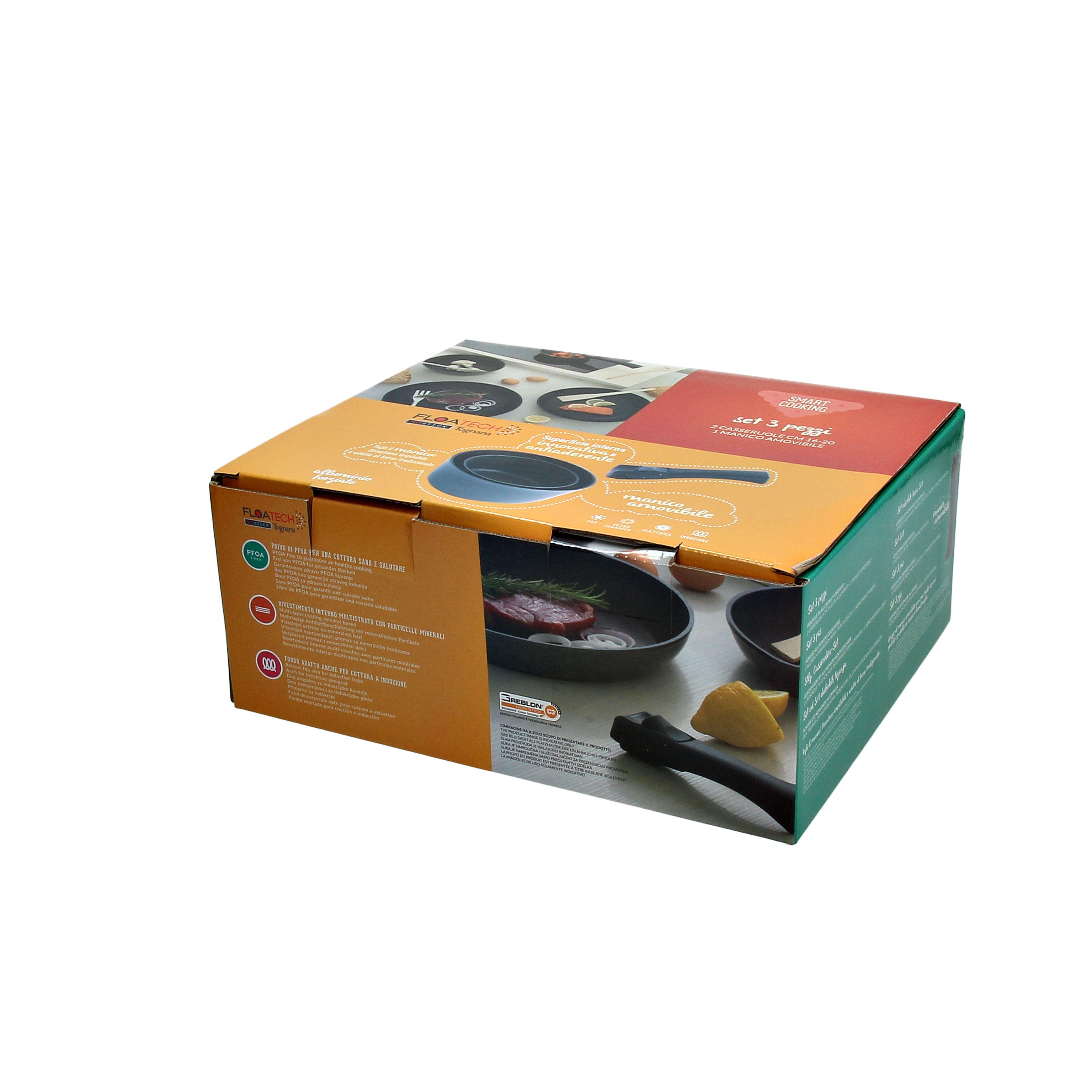 Набор сковород 3 предмета Smart cook (сковороды 26+30 см; съмная ручка)Набор сковород – это незаменимый атрибут для любой кухни. Несколько разных моделей, входящих в этот набор, оптимально подходят для приготовления самых разнообразных блюд. Представленные изделия изготавливаются из алюминия. Этот легкий и прочный металл надежно защищает сковороды от случайных повреждений и других нежелательных воздействий. Пластиковые ручки не проводят тепло, что исключает риск обжечься в процессе приготовления пищи. Специальная поверхность не допускает проскальзываний, что делает эксплуатацию не только удобной, но и безопасной.<br>