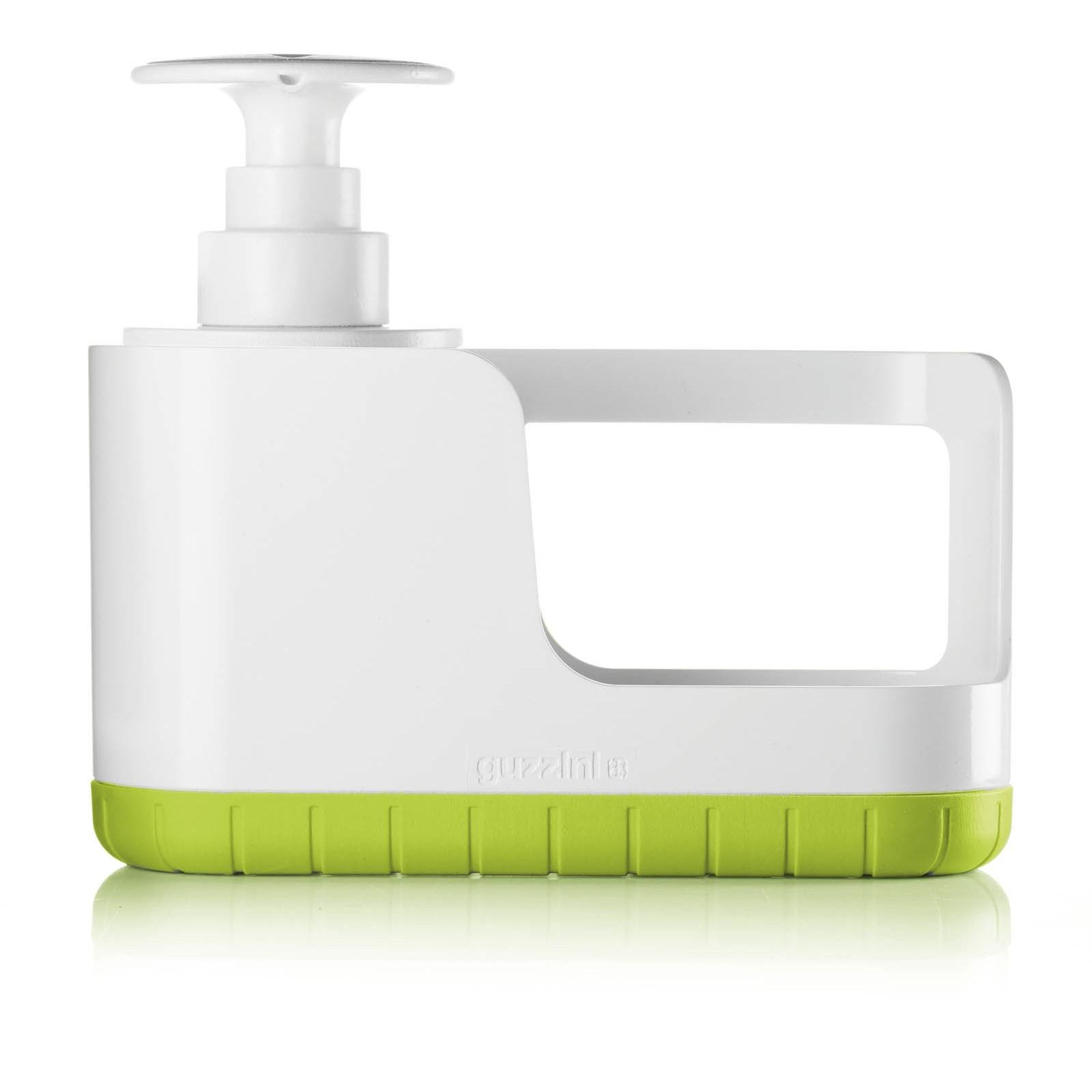 Набор для раковины (дозатор для мыла + подставка для губки) MY KITCHENFratelli Guzzini производит пластиковую посуду и аксессуары для дома. Элегантный комплект из дозатора и подставки - удобный предмет для кухни. Жидкое мыло (или жидкость для мытья посуды) и губка будут всегда под рукой.<br>