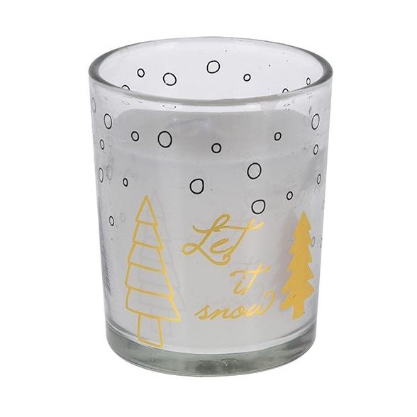 Свеча в стакане 5,5х6,5 см в ассортименте