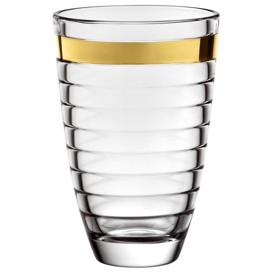 Ваза, золотая полоса BAGUETTEИтальянская компания EGO стала известным производителем товаров для кухонь. Качественное стекло в дополнении с неповторимым дизайном сделали продукцию компании уникальной и оригинальной. Изделия EGO послужат отличным подарком на новоселье или именины.<br>