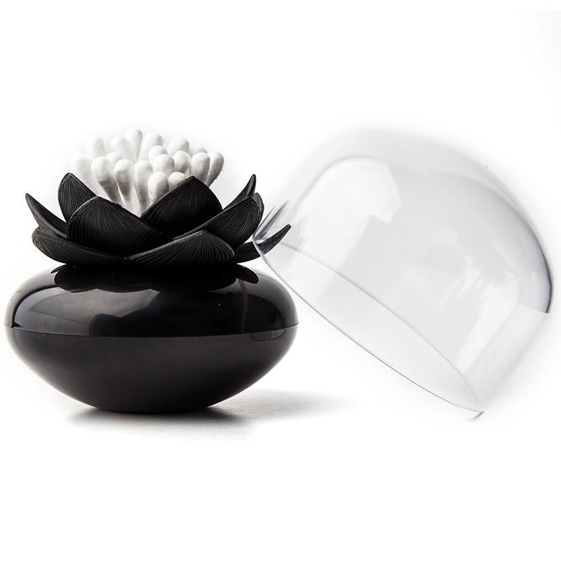 Контейнер для хранения ватных палочек Lotus черный фото
