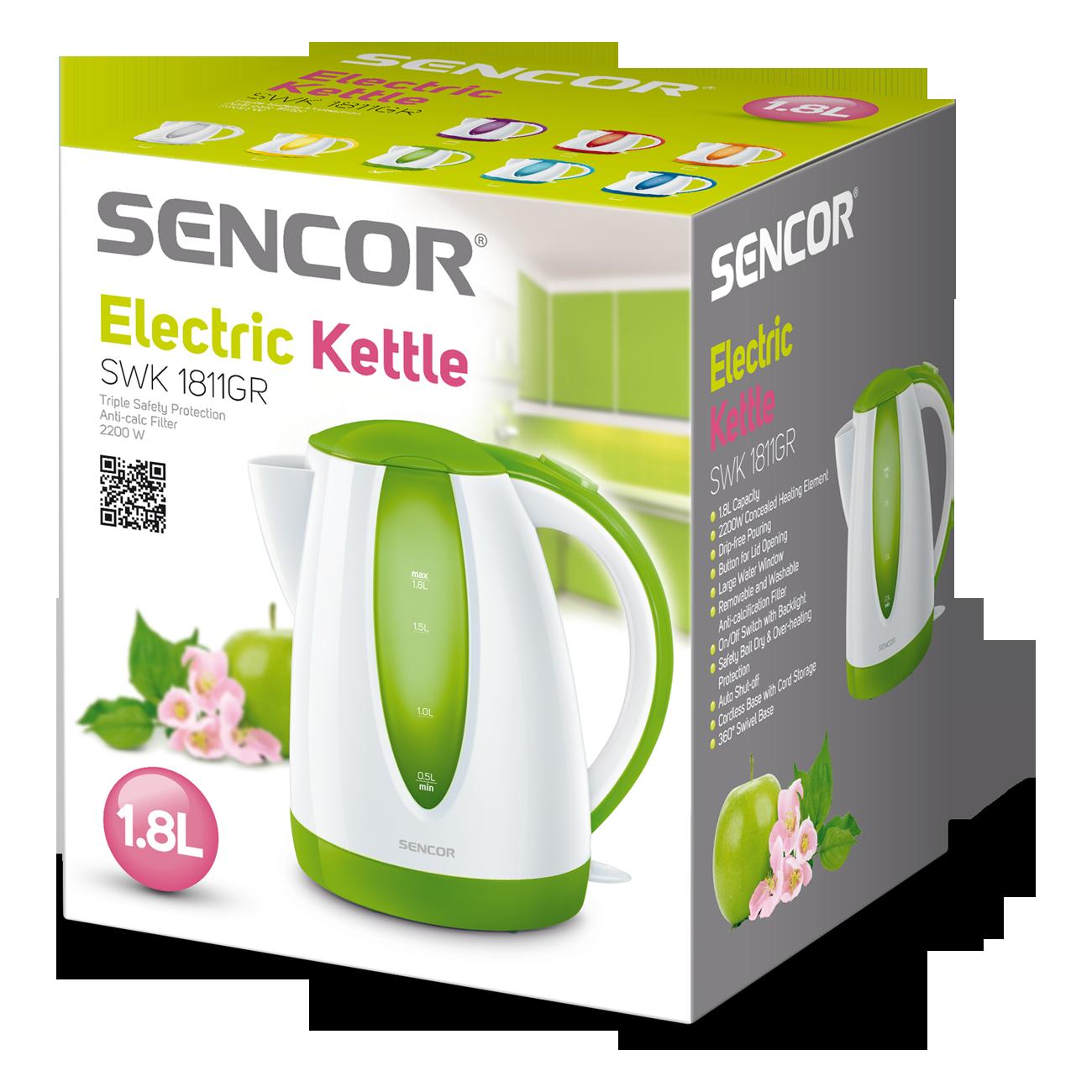 Электрический чайник 1,8 л зеленый SENCOR