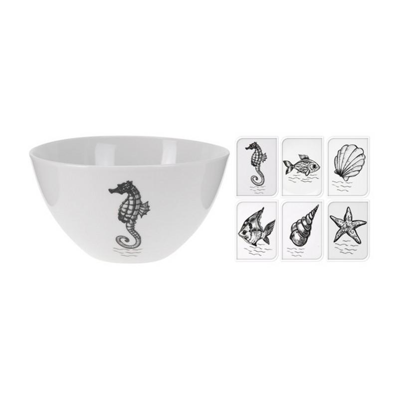 МискаМиска от Billow выполнена из высококачественного фарфора, оформлена изображением морских обитателей. Прекрасно подойдет для подачи салатов или мороженного. Такая миска станет украшением Вашего стола.<br>
