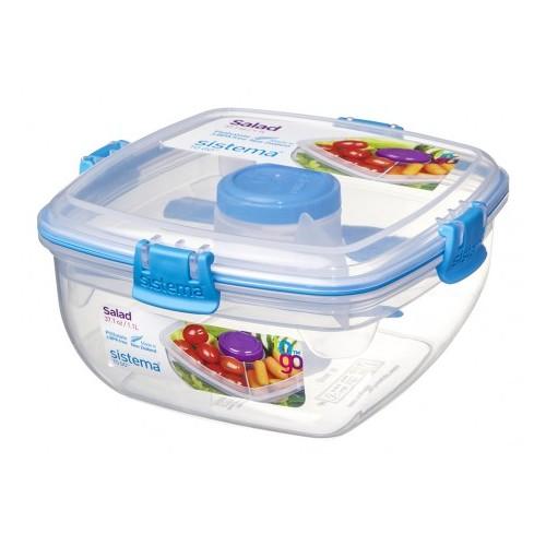 Купить Контейнер д салата с разделителями и приборами TO-GO, Sistema Plastics
