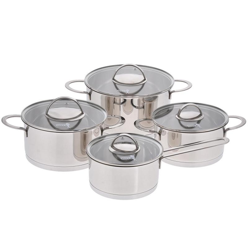 Набор посуды Augustin Welz 3 кастрюли + ковш