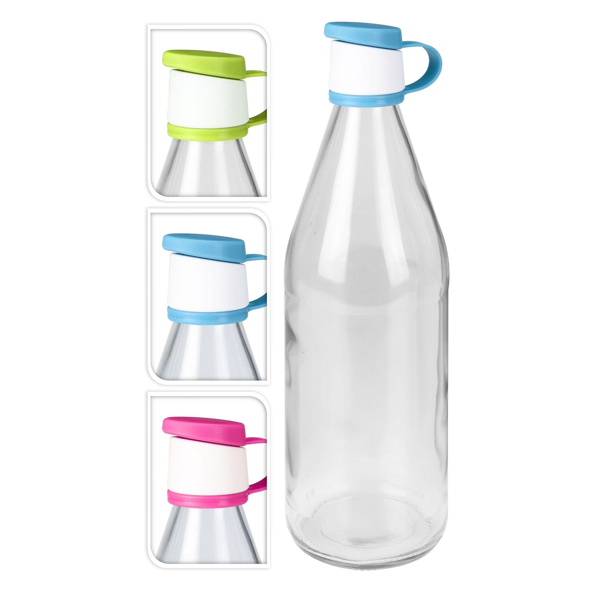 Бутылка 1 л прозрачная в ассортименте<br>