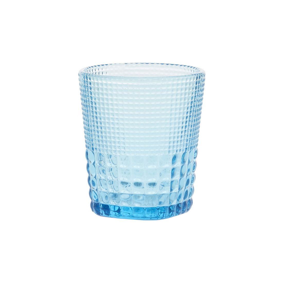 Стакан для напитков Royal drops, голубойСтакан для напитков Ройял дропс будет органичным дополнением любого стола. Это привлекательная модель из голубого стекла, которая замечательно украсит новогоднее застолье, праздник в честь юбилея или свадебный стол. Стакан разработан дизайнерами известного бренда Магиа Густо. Он обладает эргономичной формой с легким расширением кверху. Поверхность изделия рельефная, что обеспечивает удобство его использования. Стакан для напитков Ройял дропс универсален. Из него будет приятно пить любые напитки – квас, минеральную воду, сок.<br>