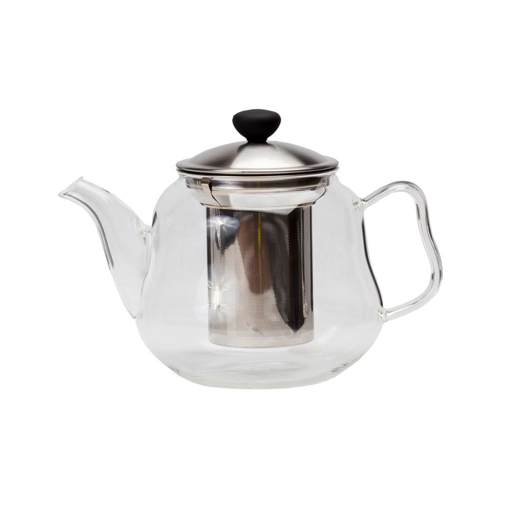 Чайник стеклянный «Да-Хун» , с фильтром, 1350 мл.Чайник имеет интересный современный дизайн и изготовлен из прозрачного стекла. Использовать такой чайник на кухне очень удобно. Благодаря прозрачному стеклу можно насладится цветом любимого чая. Также в чайнике тепло будет сохранятся дольше, что будет особенно приятно в холодное время года.<br>
