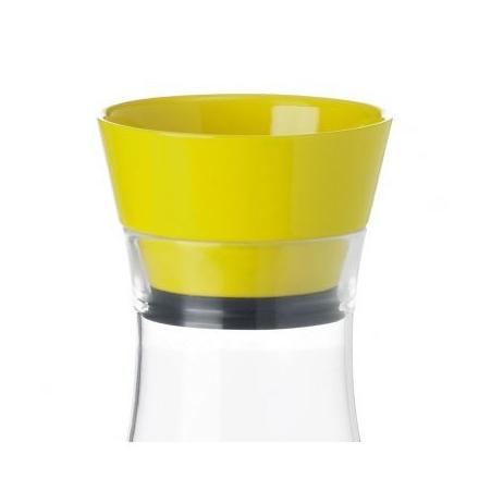 Графин с крышкой 1 л, желтый FLOW