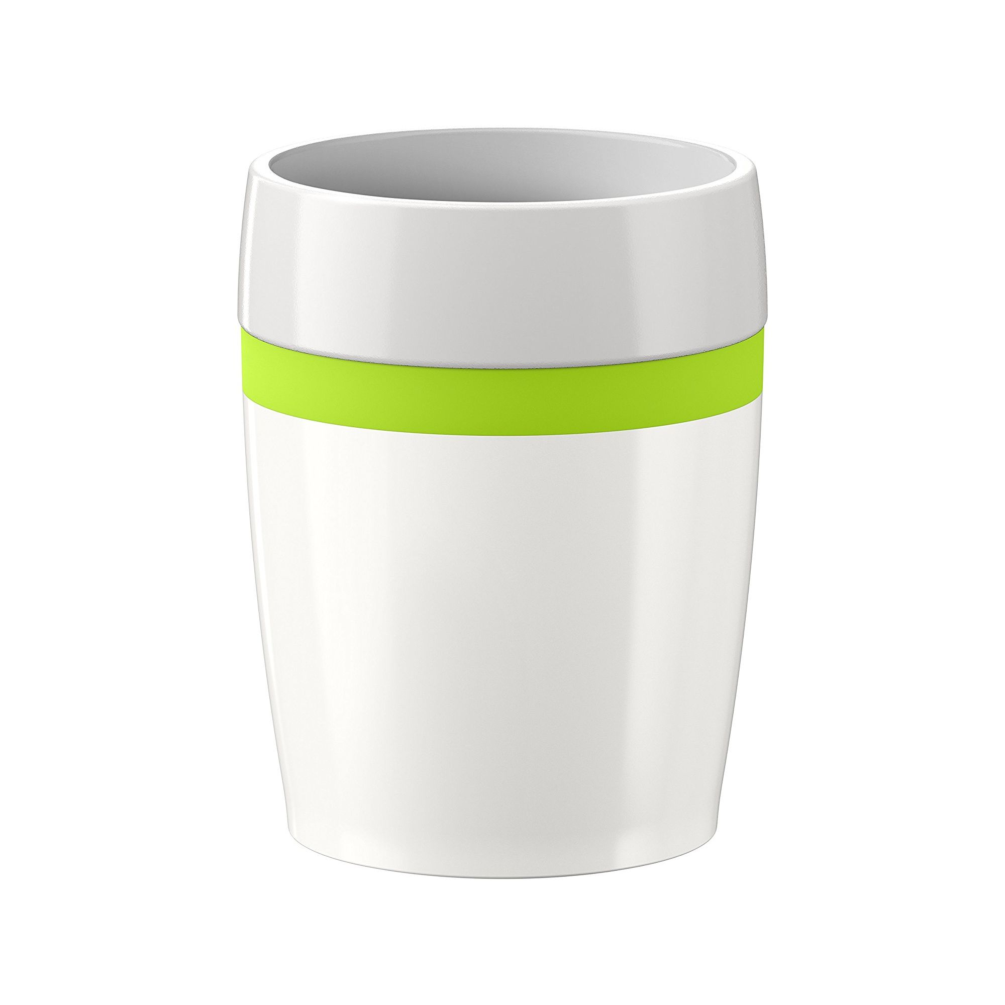 Термостакан TRAVEL CUP CeramicСимпатичный термостакан ТРЭВЭЛ КАП Керамик изготовлен из белой керамики и украшен яркой зеленой полосой. Небольшой объем и компактные размеры стакана придутся кстати в коротком путешествии, диаметр дна отлично впишется в автомобильный держатель бутылок, поэтому наслаждаться бодрящим кофе или ароматным чаем можно будет прямо за рулем, стакан надолго сохранит ваши любимые напитки горячими. Неплохая идея для подарка женщине или мужчине, много времени проводящим в дороге.<br>