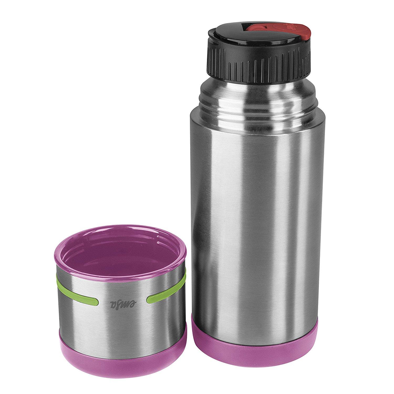 Термос MOBILITY KIDS 0,35л розовый/зеленыйТермокружка изготовлена из высококачественной стали. Она отлично держит температуру вашего напитка в течение длительного времени. Вы сможете взять свой напиток с собой в дорогу и пить его где бы вы не находились.<br>