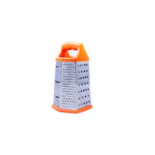 Терка нерж. 6-тигранная 23 см оранж appetit оранжевыйТерка из нержавеющей стали от бренда Appetite удобная и качественная. Имеет 6 граней, что позволяет выбрать различные размеры натирания овощей и фруктов.<br>