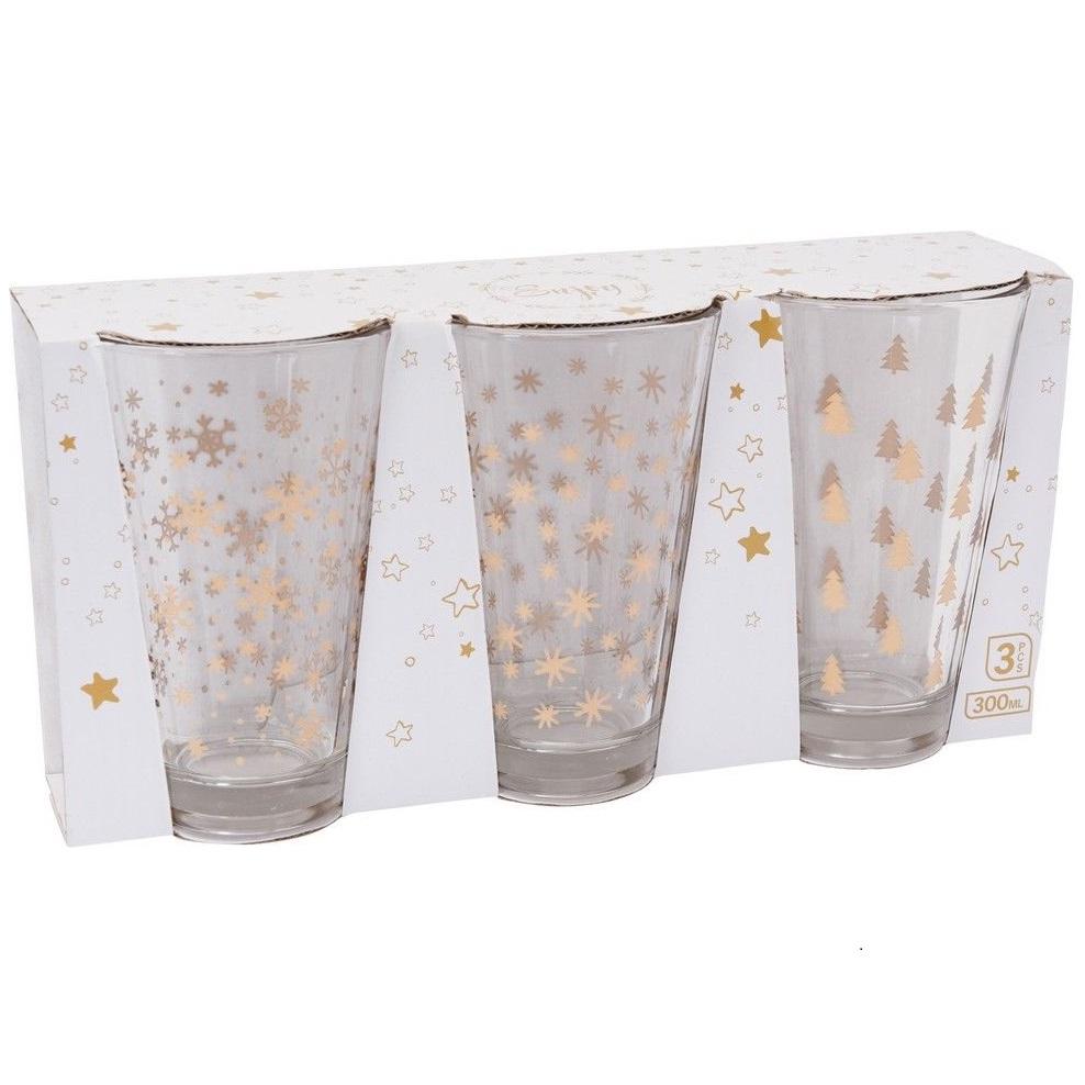 Набор стаканов 3 шт 300 мл в ассортименте