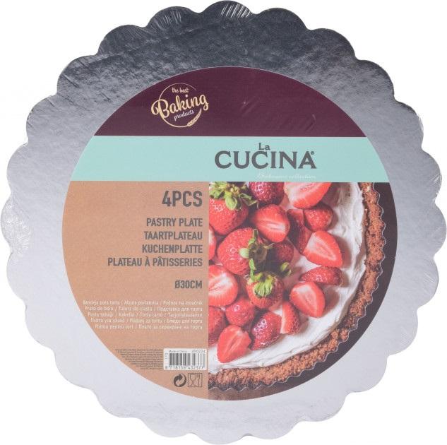 Набор подставок для кондитерских изделий 4 шт. 30 см La Cucina