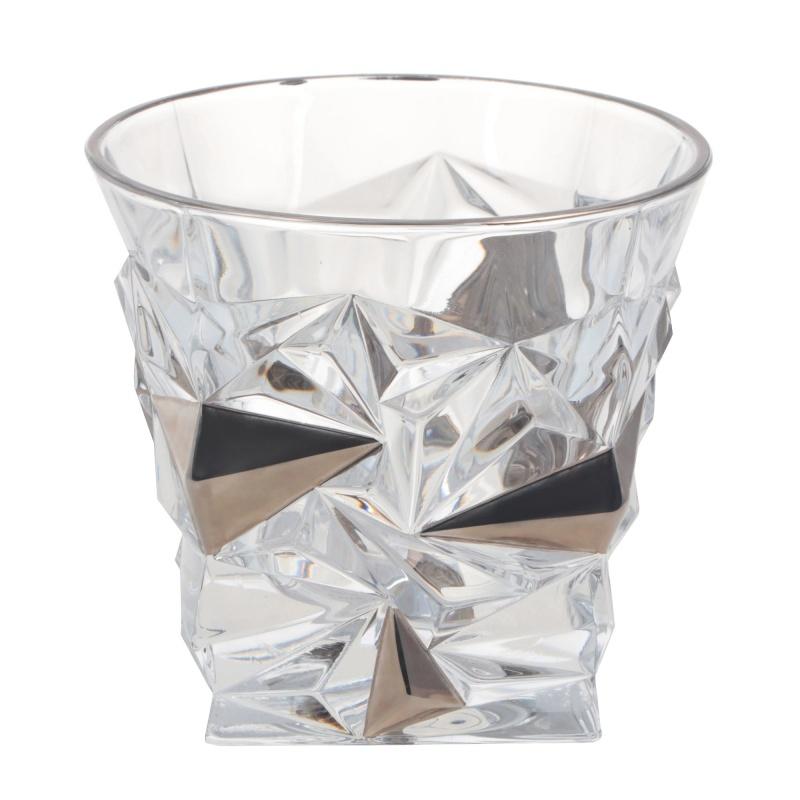 "Набор хрустальных стаканов для виски 6 шт. 350 мл Bohemia Jihlava "",Glacier"", платиновый"