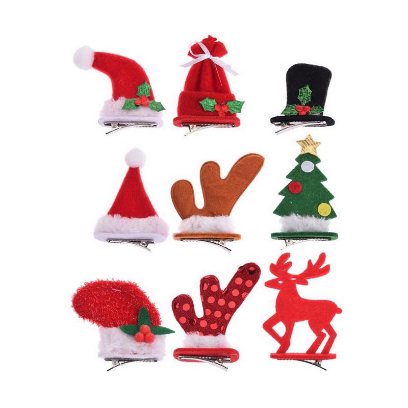 Декор рождественский на клипсе 5х9 см в ассортименте