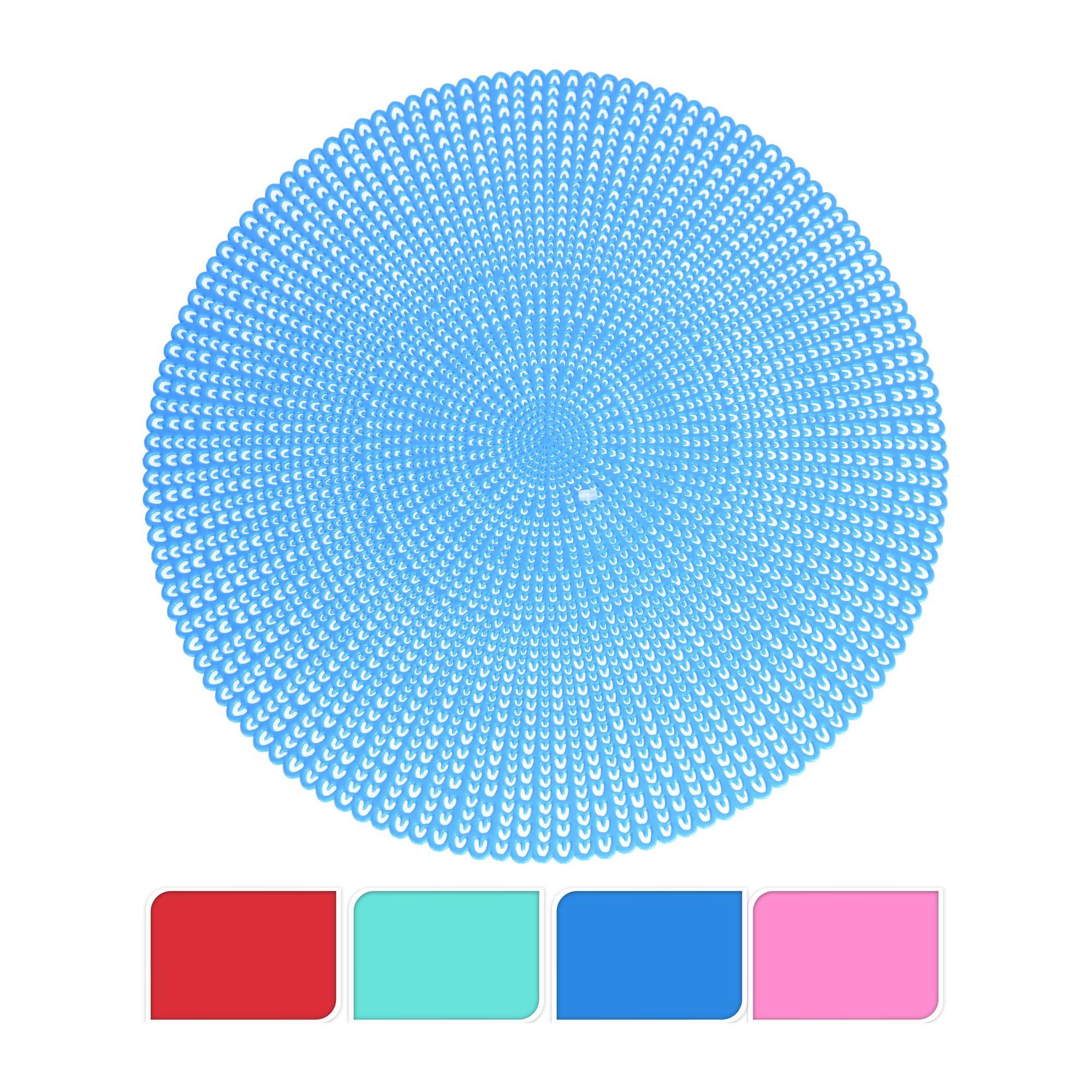 Салфетка сервировочнаяСалфетка сервировочная круглой формы выполнена под брендом Экселент Хаусвейр. Ее диаметр составляет 41 см, что оптимально подходит для размещения на поверхности стола. Салфетку можно использовать не только в качестве украшения, чтобы внешний вид стола был более интересным. Также ее размещают под тарелки и другую посуду, благодаря чему крошки еды не попадают на скатерть.Уход за сервировочной салфеткой несложный, все загрязнения с нее удаляются относительно быстро. Расцветка изделия яркая, она добавляет определенный акцент столу и защищает его поверхность от горячей посуды. Практичные салфетки подобного типа должны быть в каждом доме.<br>