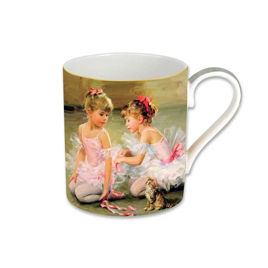 Кружка 0.38л Балерины, в подарочной упаковкеКружка для чая, способная доставлять такое же эстетическое наслаждение, как подлинная живопись русских художников? Да, если это «Балерины» - точная детальная репродукция известной картины на кружке из белоснежного китайского костяного фарфора. Поставляется в изящной подарочной упаковке, поэтому послужит приятным сюрпризом для любителей искусства и чая. Набор таких кружек украсит семейную столовую и понравится вашим гостям. Изделие можно мыть в посудомоечной машине и использовать в микроволновой печи.<br>