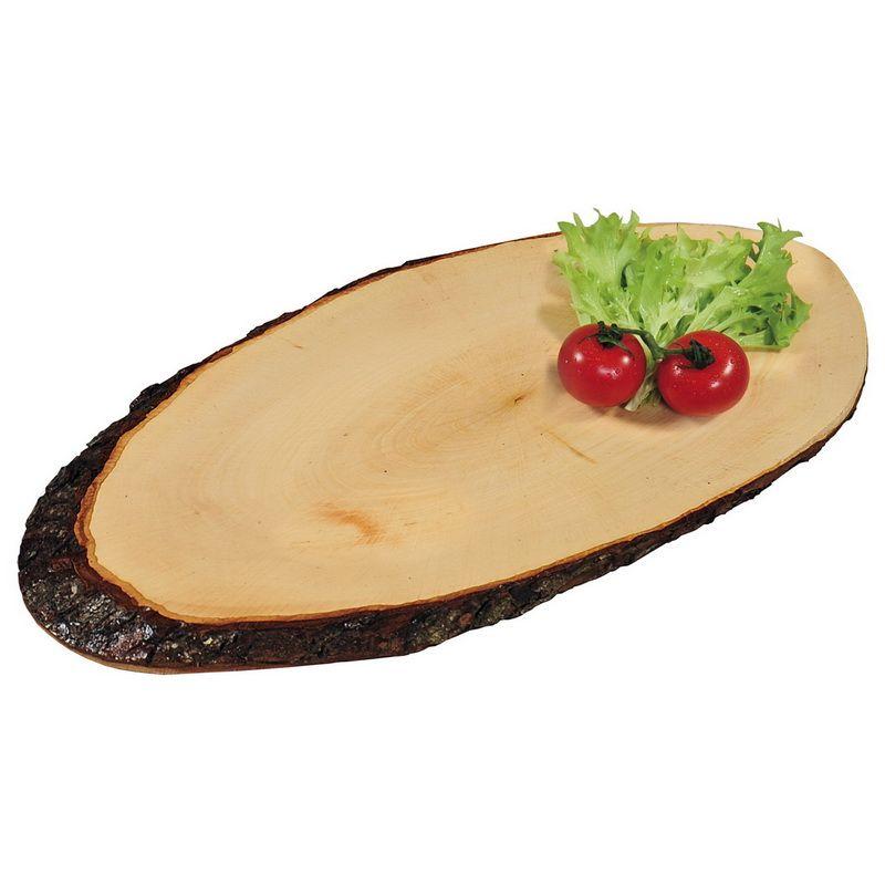 Доска сервировочная, овалДоска сервировочная известного бренда Кеспер имеет овальную форму. Нестандартный дизайн изделия представляет собой древесный спил с корой и годичными кольцами. Материал – стандартная древесина, специально обработанная для повышения твердости и антибактериальных свойств. Доска надолго сохранит приятный древесный аромат, а ее внешний вид сделает любую подачу пищи запоминающимся событием. Она подойдет также и для разделки мяса и овощей. Древесина не приводит к затуплению металлических ножей, за ней просто ухаживать.<br>