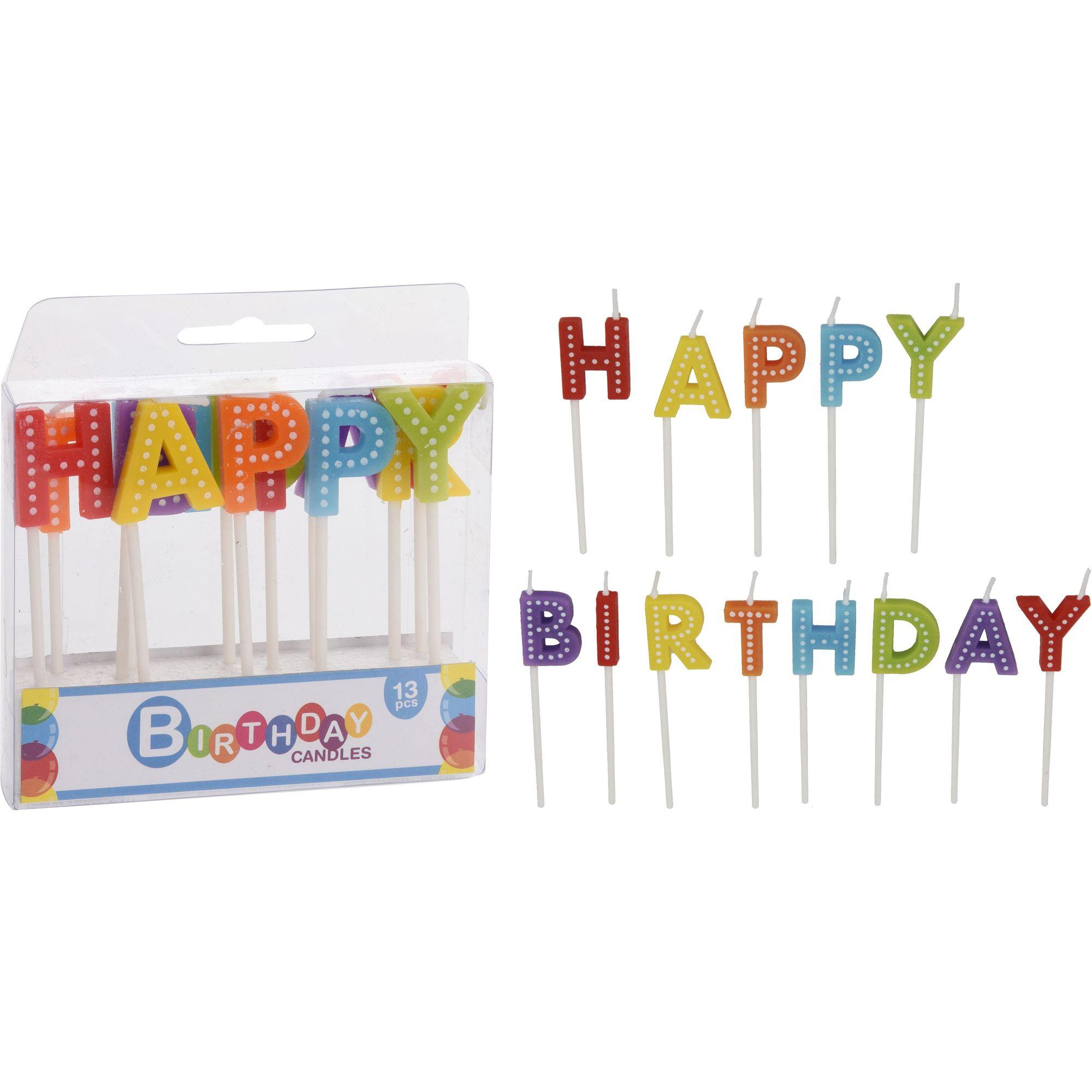Набор свечей 13 шт. Happy Birthday<br>