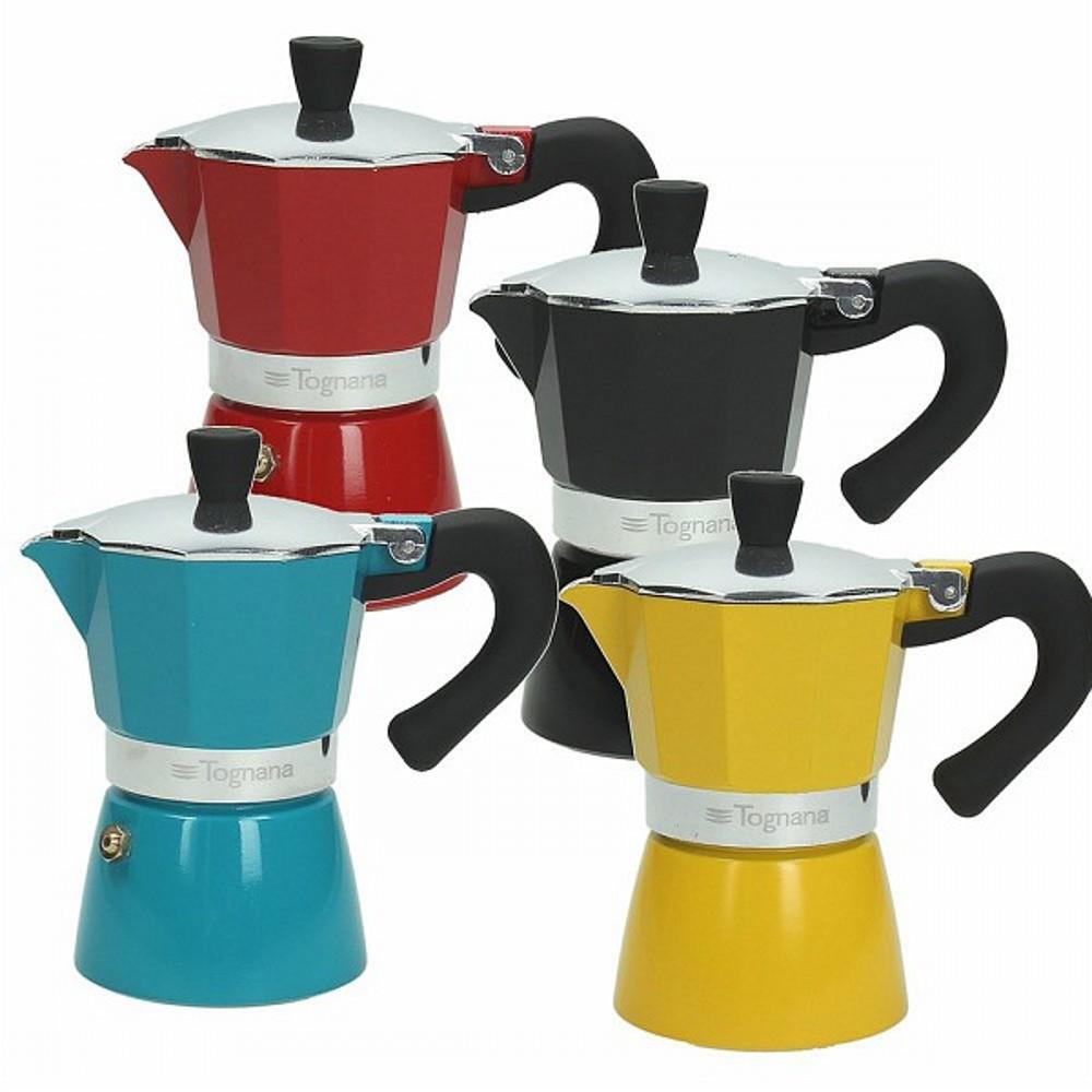 Кофеварка гейзерная на 1 чашку GRANCUCI MULTICOLПредметы быта от Tognana - превосходные эргономичные предметы, которые превзойдут все ваши представления о стильных и качественных вещах. Кофеварка - один из таких примеров, которым вы останетесь довольны.<br>